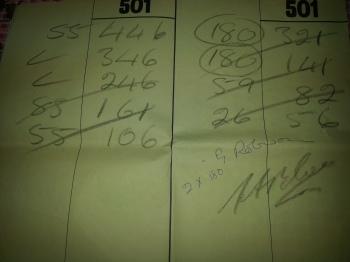 two 180s Dennis vs Bristow