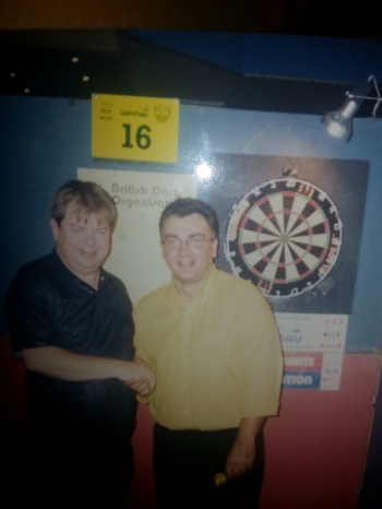 Winmau with Mike Gregory 1999
